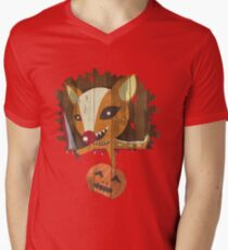 Pumpkin Hunter Men's V-Neck T-Shirt