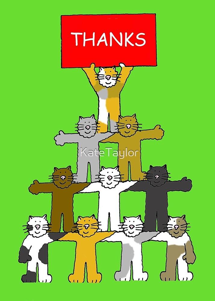 Thank you Cartoon Cats by KateTaylor