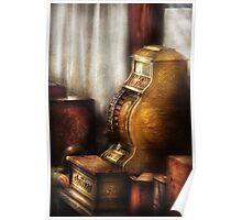 Brass Cash Register Poster