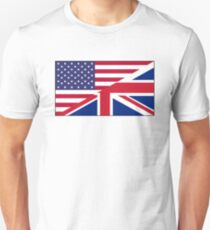 ANGLO, AMERICAN, FLAG, USA, America, Great Britain, Union Jack, Stars & Stripes Slim Fit T-Shirt