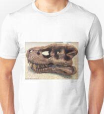 Tyrannosaurus Rex Skull Sculpture Unisex T-Shirt