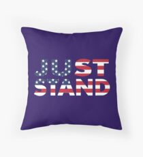 Just Stand for the American Flag and Anthem  Throw Pillow