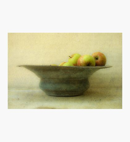 Apples and Bowl Photographic Print