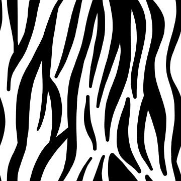 modern woodland safari animal black and white zebra print by lfang77