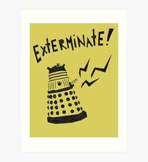 Dalek Doctor Who Stencil-Style Illustration Art Print