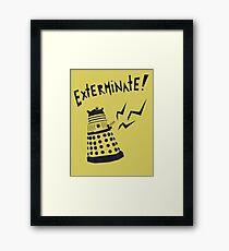Dalek Doctor Who Stencil-Style Illustration Framed Print