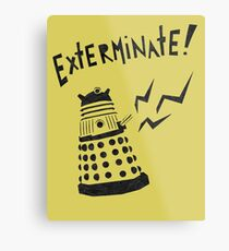 Dalek Doctor Who Stencil-Style Illustration Metal Print