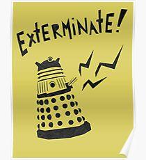 Dalek Doctor Who Stencil-Style Illustration Poster