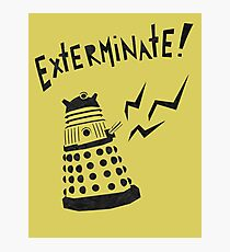 Dalek Doctor Who Stencil-Style Illustration Photographic Print