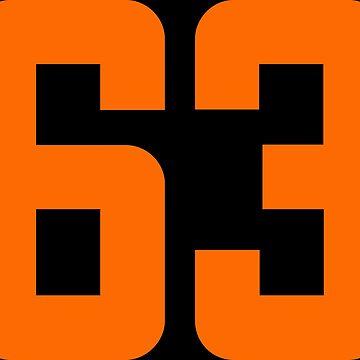 Orange Number 63 by wordpower900