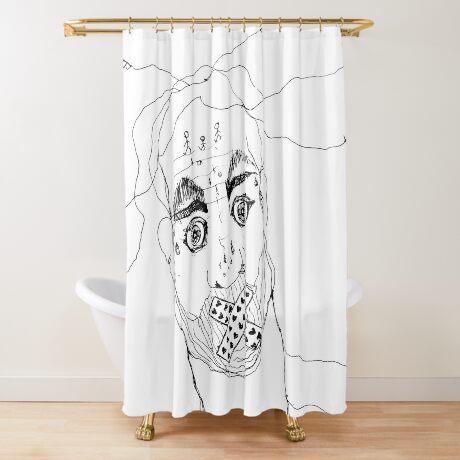 BAANTAL / Hominis / Faces #7 Shower Curtain