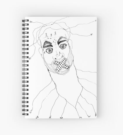 BAANTAL / Hominis / Faces #7 Spiral Notebook