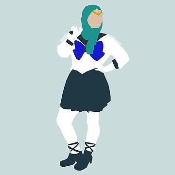 Iman Meskini as Sailor Neptune by genderfvcked