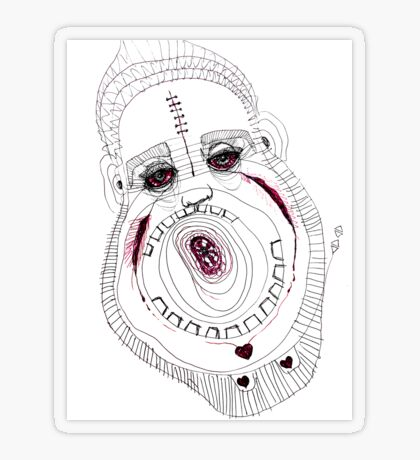 BAANTAL / Hominis / Faces #8 Transparent Sticker