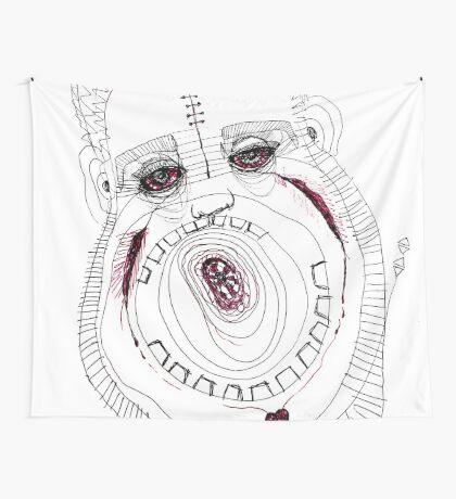 BAANTAL / Hominis / Faces #8 Wall Tapestry