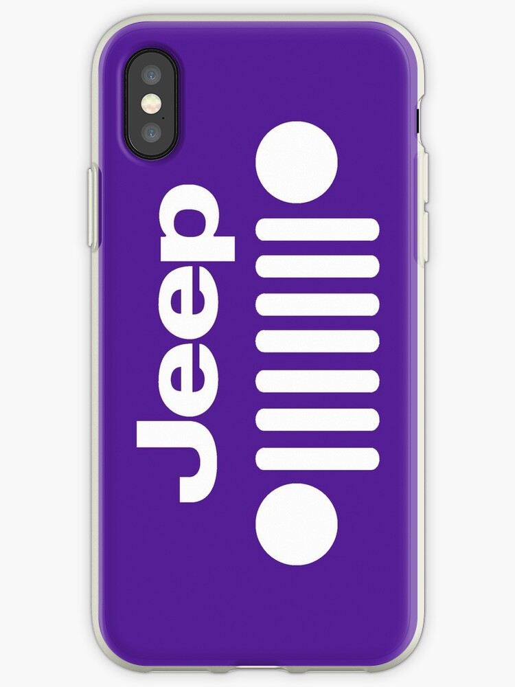 low priced c0e32 4b689 'Purple Jeep Grill Iphone Case' iPhone Case by SurfaceTees