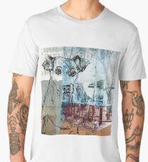 Mixed Media City  Dog Men's Premium T-Shirt