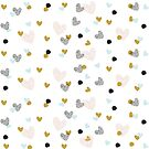 abstract pattern with hearts by grafart