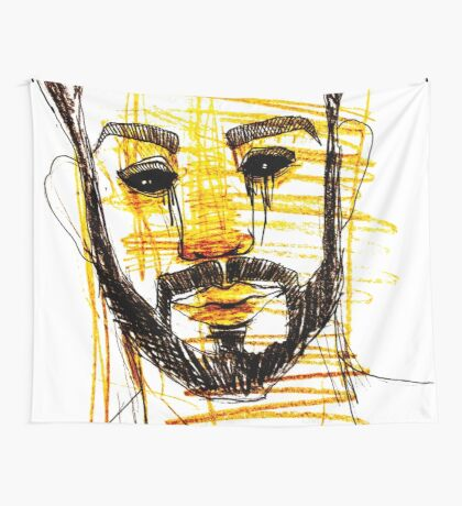 BAANTAL / Hominis / Faces #10 Wall Tapestry