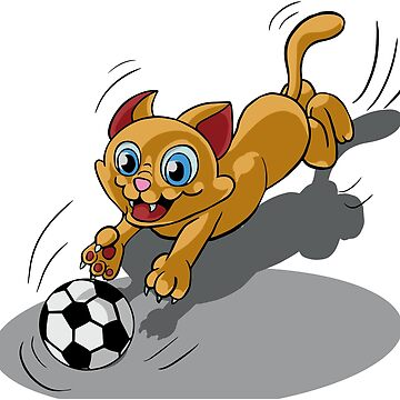 Football cat Funny gift birthday by MakeItIsi