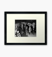 We Want Beer! Prohibition Protest, 1931. Vintage Photo Framed Print