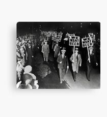 We Want Beer! Prohibition Protest, 1931. Vintage Photo Canvas Print