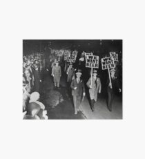 We Want Beer! Prohibition Protest, 1931. Vintage Photo Art Board Print