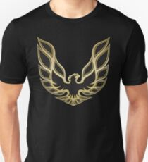 Camiseta ajustada Smokey and the Bandit 1977 Pontiac Firebird Trans-Am logotipo de la capilla réplica precisa