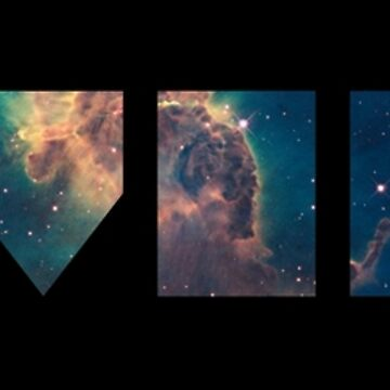 Abstract Universe - Text (Black) by RobbeRNL