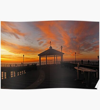 dawn at the fisherman's pier  Poster