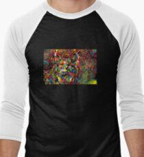 Rainbow Lynx Men's Baseball ¾ T-Shirt