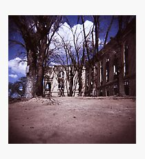 The Ghost of the Old Railroad Hospital Photographic Print