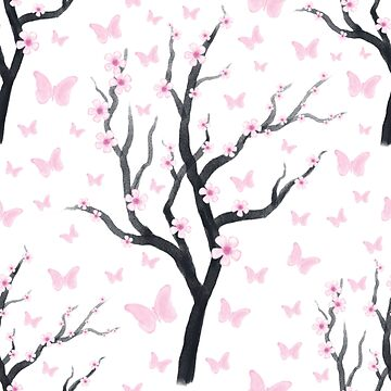 Cherry Blossom Pattern by Fangpunk