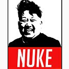 KIM JONG UN BOOM FUNNY SHIRT NUKE by Motion45