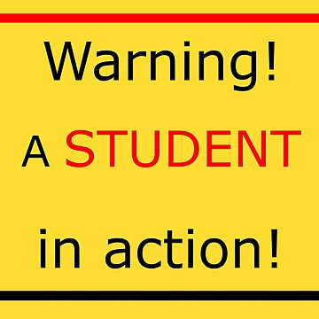 Warning! A student in action! by TiiaVissak