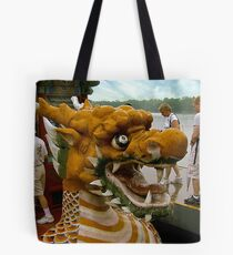 Into the Belly of the Dragon Boat Tote Bag