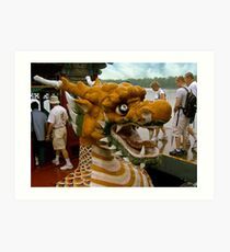 Into the Belly of the Dragon Boat Art Print