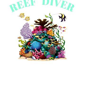 Beautiful Coral Reef Diver Design by oceanus183