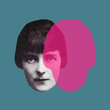 Katherine Mansfield - green teal pink pop by savantdesigns