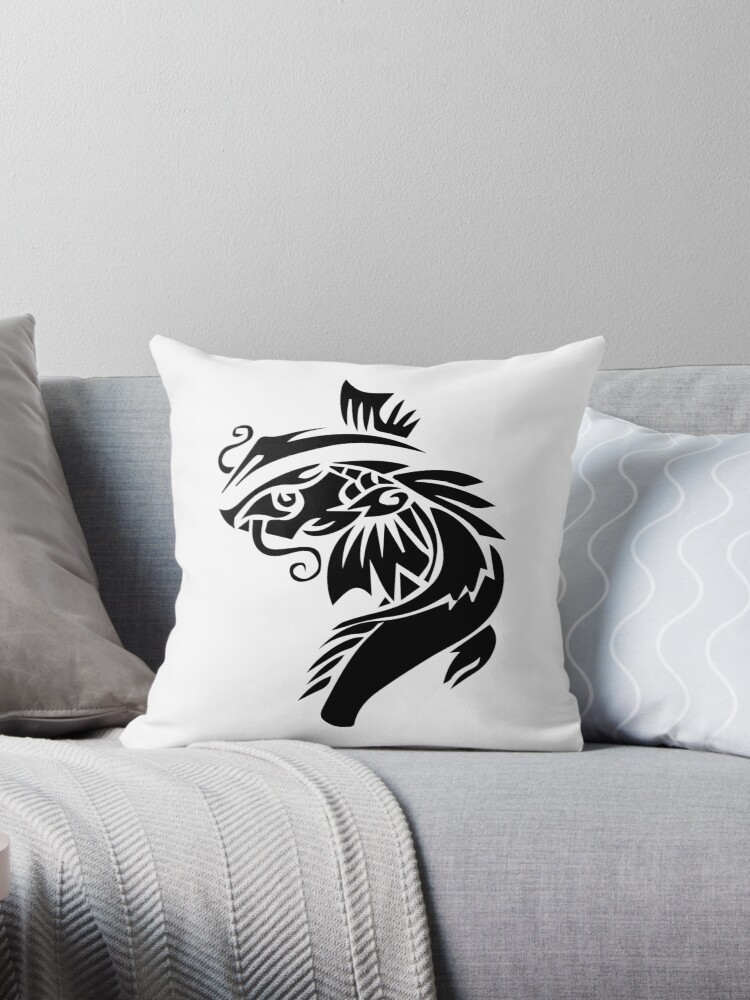 Quot Koi Fish Quot Throw Pillows By Mytran123 Redbubble
