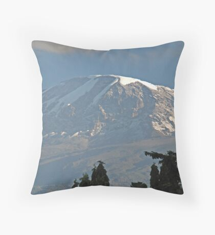 Mt Kilimanjaro, Tanzania Throw Pillow