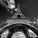 Sunset Eiffel by Victor Pugatschew