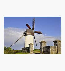 Windmill in Skerries Photographic Print