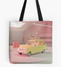 Yellow Automobile Tote Bag