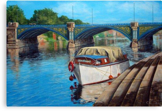 Nottingham reflections - Trent Bridge II by Carole Russell