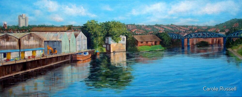 Nottingham reflections - Trent Bridge III by Carole Russell