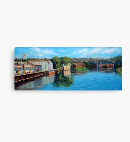 Nottingham reflections - Trent Bridge III Canvas Print