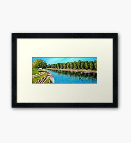 Nottingham reflections - Trent Bridge Framed Print