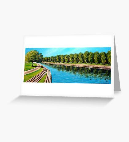 Nottingham reflections - Trent Bridge Greeting Card