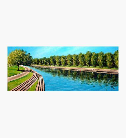 Nottingham reflections - Trent Bridge Photographic Print